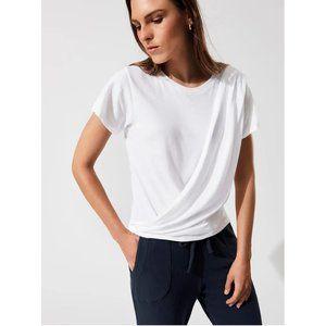NWT LNA Short Sleeve Enwrap White T-Shirt Small